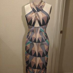 Mara Hoffman Compass Cross Front Halter Dress